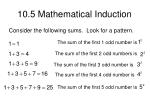 10 5 mathematical induction