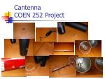 cantenna coen 252 project