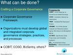 crafting a corporate governance