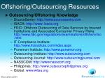 offshoring outsourcing resources