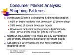 consumer market analysis shopping patterns