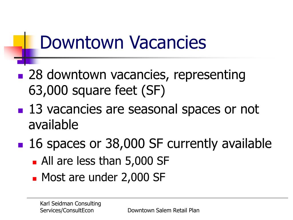 Downtown Vacancies