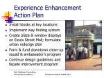 experience enhancement action plan
