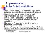 implementation roles responsibilities