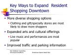 key ways to expand resident shopping downtown
