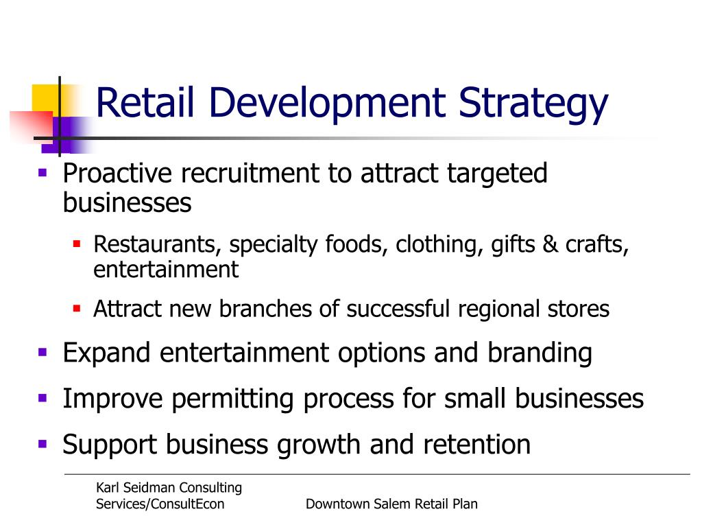 Retail Development Strategy
