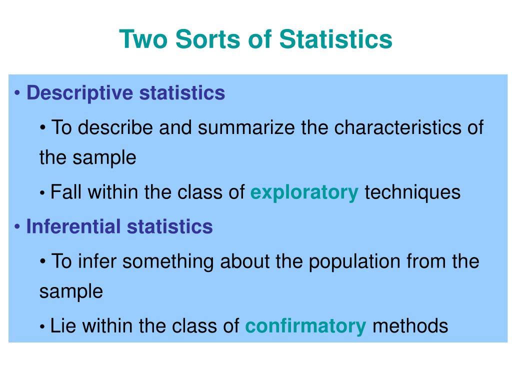 Two Sorts of Statistics