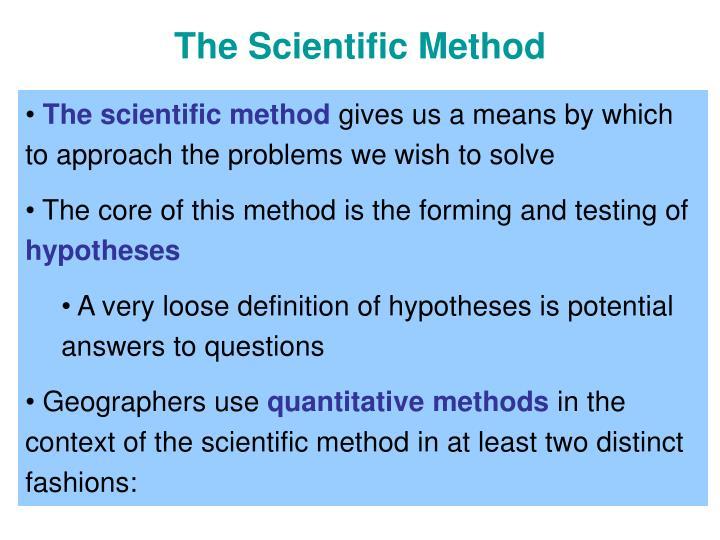 The scientific method3