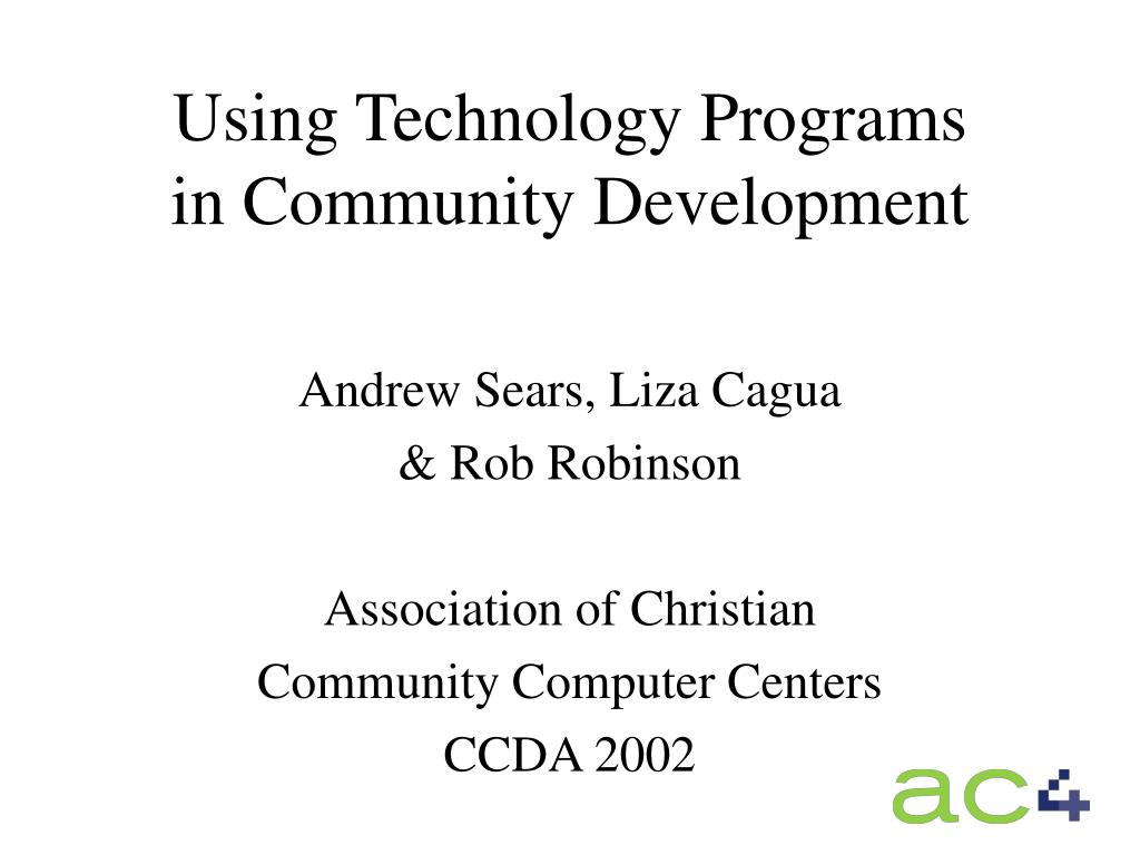 using technology programs in community development l.