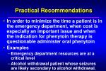 practical recommendations19