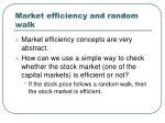 market efficiency and random walk