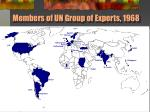 members of un group of experts 1968