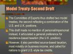 model treaty second draft