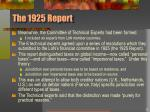 the 1925 report