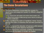 the rome resolutions
