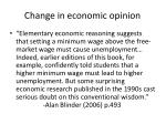 change in economic opinion
