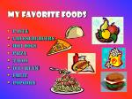 my favorite foods
