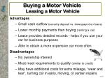 buying a motor vehicle leasing a motor vehicle