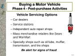 buying a motor vehicle phase 4 post purchase activities21