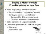 buying a motor vehicle price bargaining for new cars15