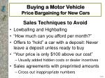 buying a motor vehicle price bargaining for new cars16