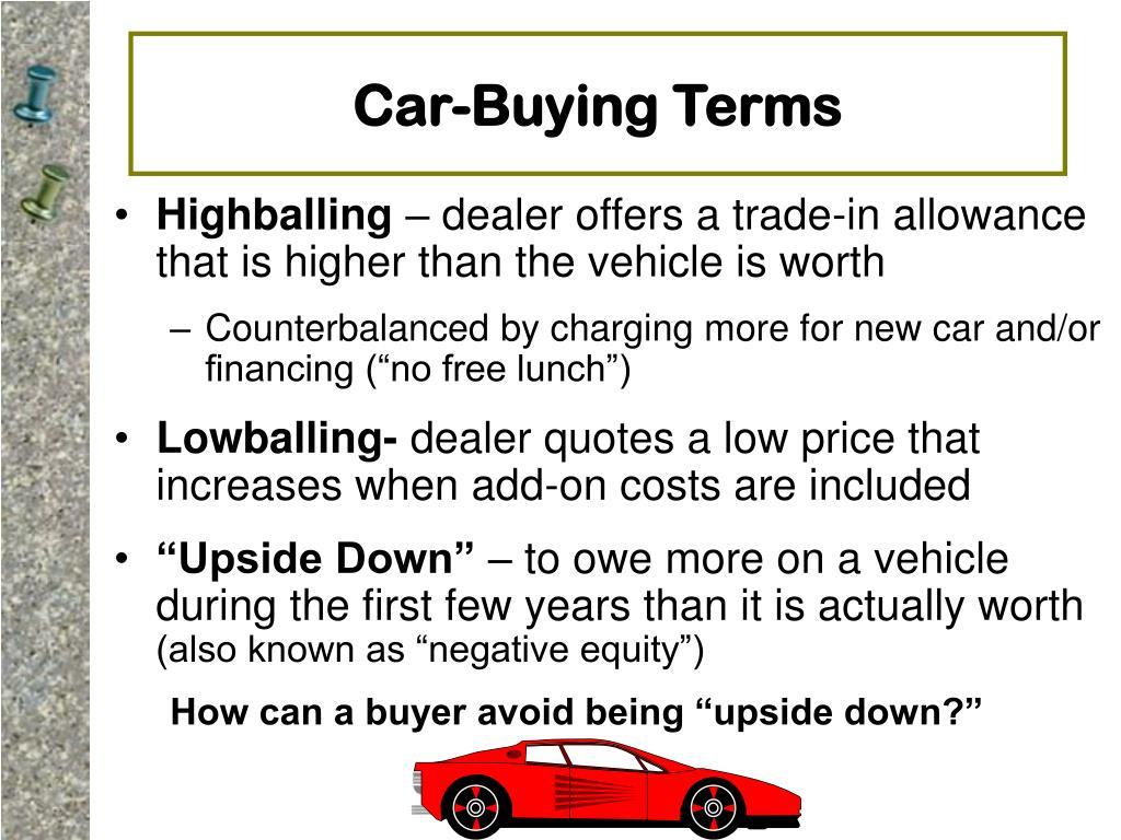 Car-Buying Terms