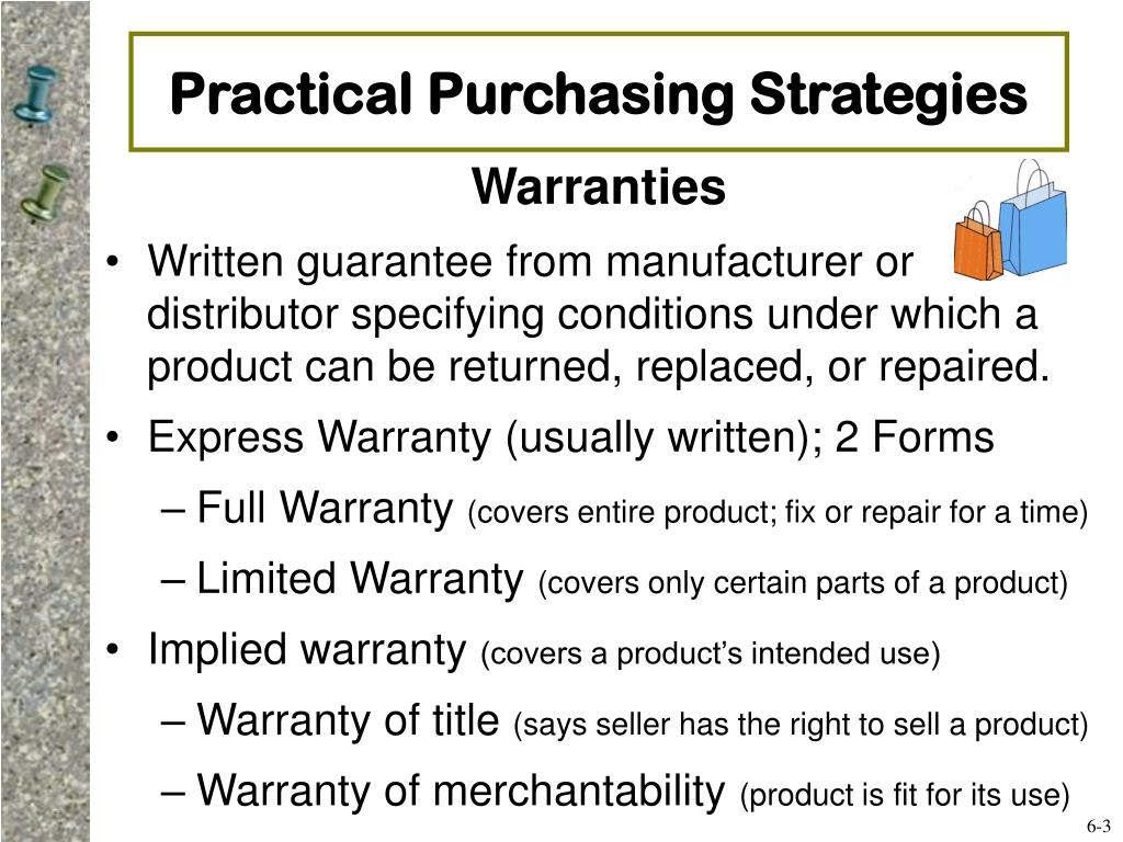Practical Purchasing Strategies