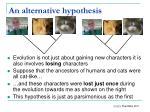 an alternative hypothesis