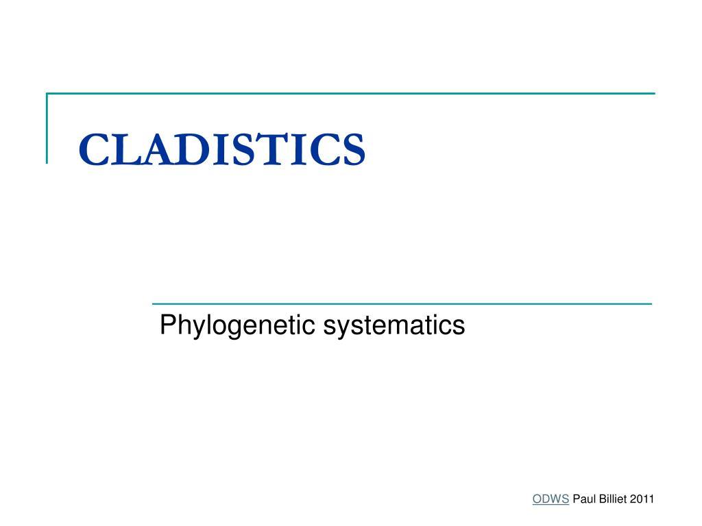 cladistics l.