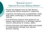 rational actors optimal decision making model