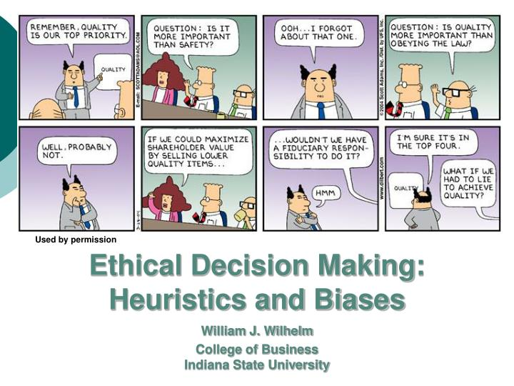 ethics and decision making in business