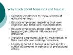 why teach about heuristics and biases