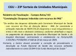 cgu 23 sorteio de unidades municipais