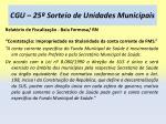 cgu 25 sorteio de unidades municipais