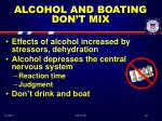 alcohol and boating don t mix