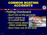 common boating accidents