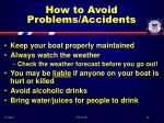 how to avoid problems accidents52