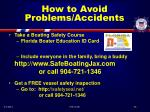 how to avoid problems accidents53