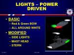 lights power driven