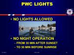 pwc lights