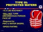 type iii protected waters