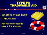 type iv throwable aid