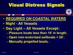 visual distress signals37