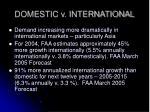 domestic v international