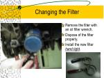 changing the filter