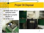 proper oil disposal