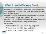 heal 9 health planning grant