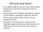 ckd and renal failure