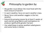 philosophy to garden by
