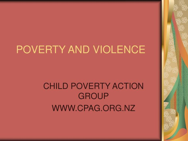 poverty and violence n.